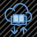 book, cloud, download