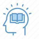 head, think, thinking, mind, book, knowledge, education