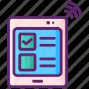 exam, online, tests, web icon