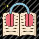 audio, book, education, music icon