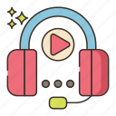 audio, course, music icon