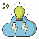brainstorming, bulb, idea icon