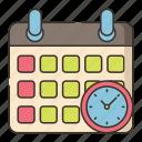 calendar, class, schedule, timetable