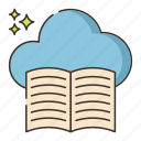 cloud, library, storage icon