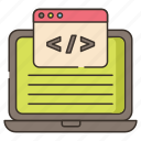 code, learning, programming icon