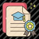 certificate, degree, diploma