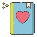 favorite, heart, lessons icon