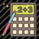 calculator, education, maths icon