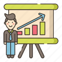 presentation, professional, training icon