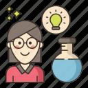 education, female, professor icon