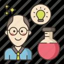 male, professor, science icon