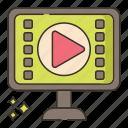 lessons, media, movie, video icon