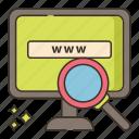 internet, research, web icon