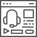 audio, course, education, podcast icon