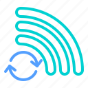 connecting, searching, wifi icon
