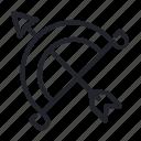arrow, bow, shoot, weapon icon