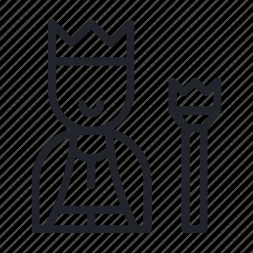 emperor, king, realm, ruler, scepter icon