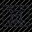 flag, pirate, pirates, skull icon