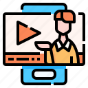 smartphone, video, online, lesson, learning, education, multimedia