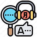 interpreter, language, operator, service, translator icon