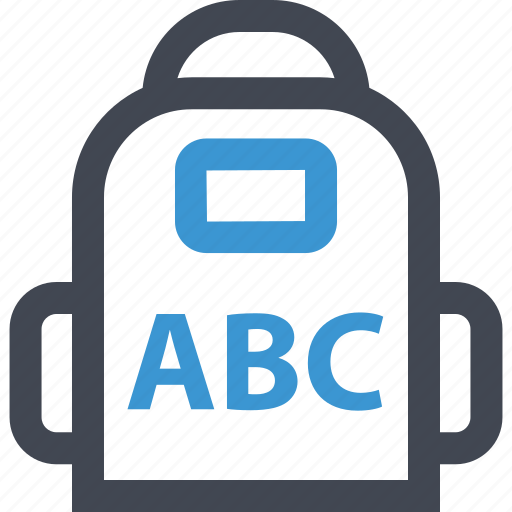 abc, backpack, learning, online, web icon