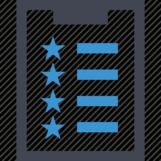 clipboard, favorite, special, stars icon