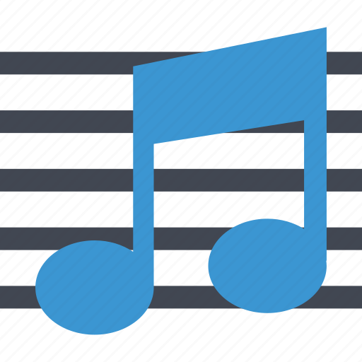 class, lines, music, note, online, web icon