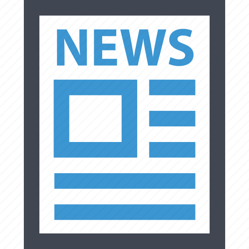 news, newsletter, newspage, page, paper icon