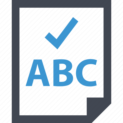 Abc, check, mark, ok, page, safe icon - Download on Iconfinder
