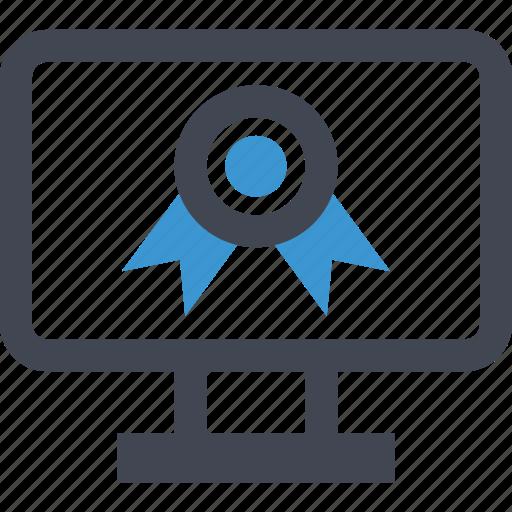 award, mac, online, pc, ribbon, web icon