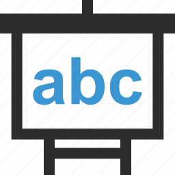 abc, board, learn, online, school icon