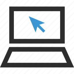 arrow, click, online, school, website icon