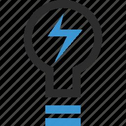 bulb, light, online, school icon