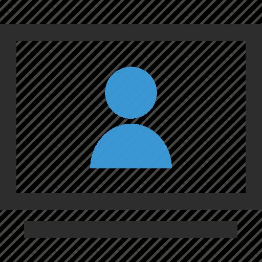 online, school, staff, student icon