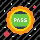 badge, education, pass, school, university