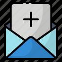add, email, invitation, invite icon