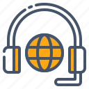communication, consultancy, global, globe, headphones, services, support