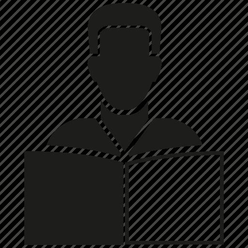 book, man, read icon