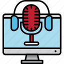 communications, conversation, microphone, podcast, record, voice