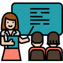 coaching, learning, class, study, teaching, presentation, seminar, training