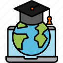 education, global, learning, online, course, study, student, hat, elearning, worldwide