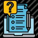 questionnaire, quizzes, online, faq, question, mark, survey