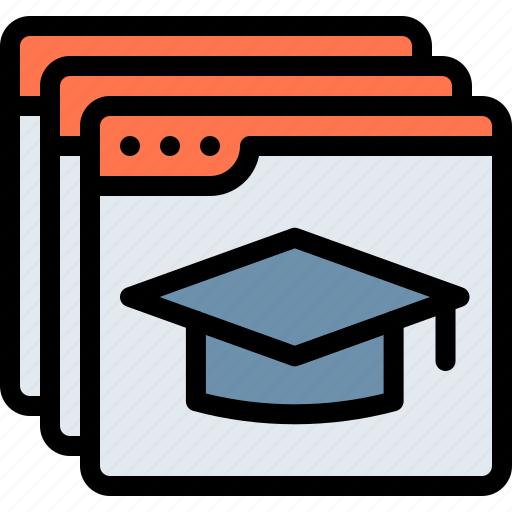 e-learning, education, learning, online icon