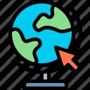 e-learning, education, globe, learning, online icon