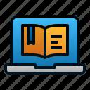 book, digital, education, laptop, learning, online, study