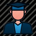 avatar, education, graduate, male, people, student, study