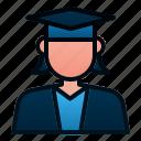 avatar, education, female, graduate, people, student, study