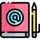 book, e, e-learning, education, learning, online icon