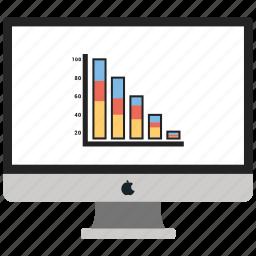 business, graph, monitor, report icon
