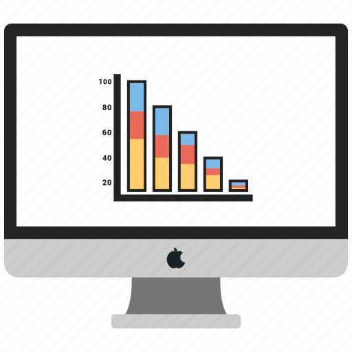 business, graph, monitor, report icon